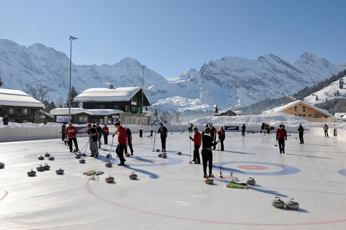 Curling rink at Murren
