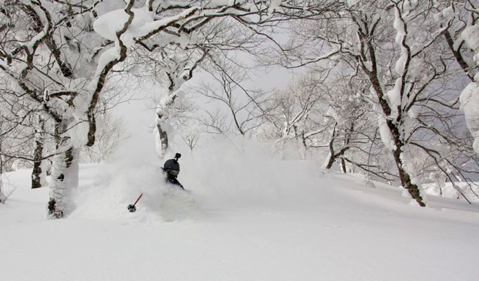 Deep powder skiing at Geto Kogen on a JR East Rail Pass ski trip