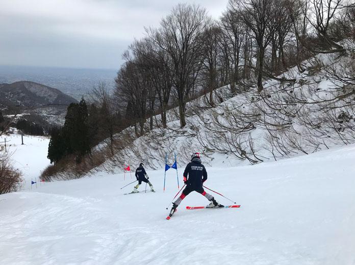 Race training at Iox-Arosa ski resort, Nanto City, Toyama Prefecture