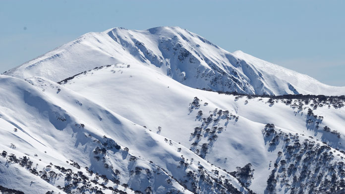 View of Mt Feathertop from the ski approach