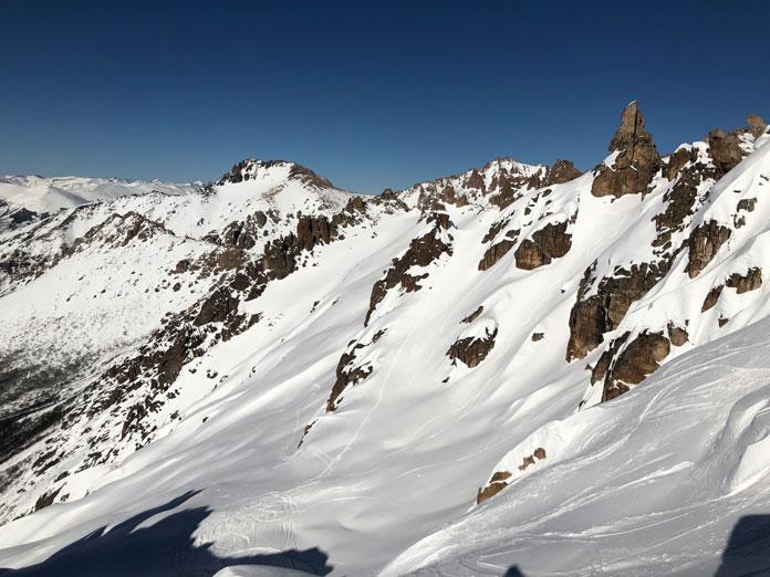 ski tracks in Van Titer valley Bariloche