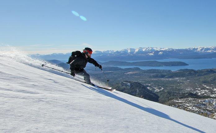 Skiing Palmera Bariloche side country