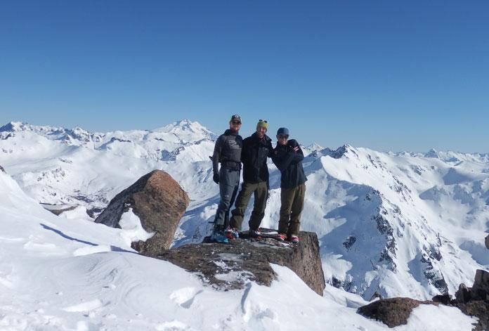 View to Tronador from Van titer ridgeline, Bariloche sidecountry skiing