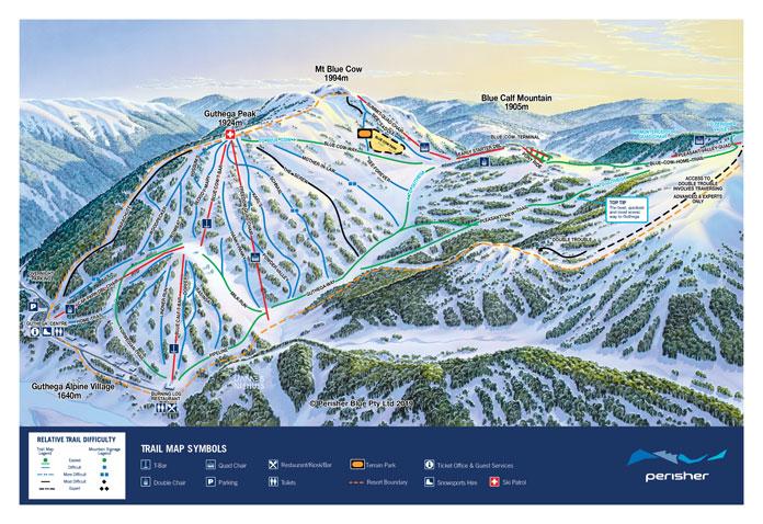 Perisher Trail Map Guthega inset