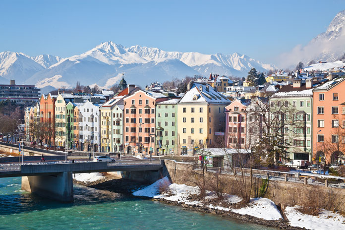 Winter view of Innsbruck