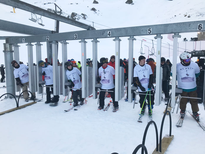 First lift at Mt Hutt 2020 ski season