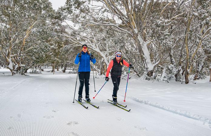 XC skiing at Dinner Plain Alpine Village
