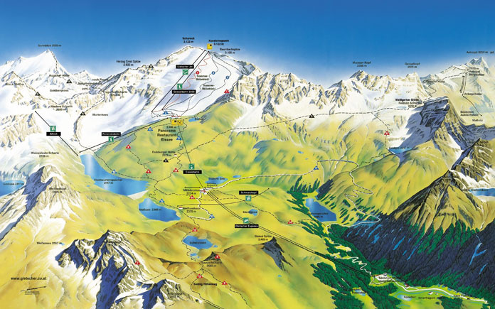 Mölltaler Gletscher Austria summer ski map