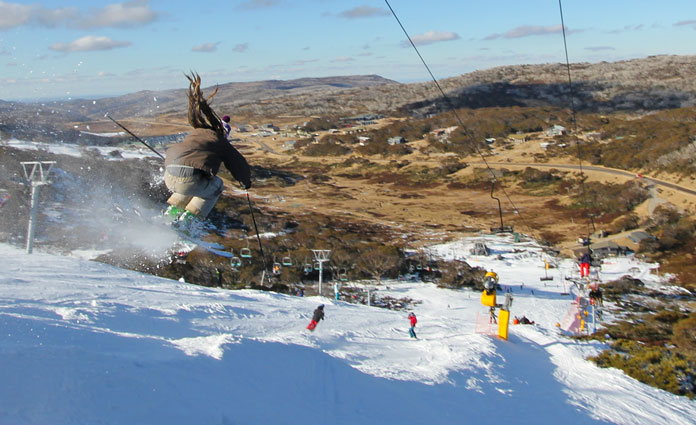 Snowmaking saves the day at Perisher in 2016