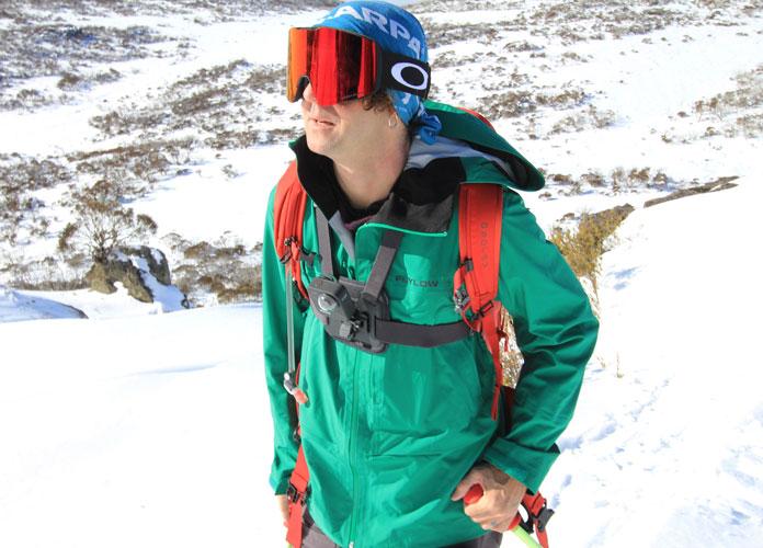 Flylow Genius jacket on snow
