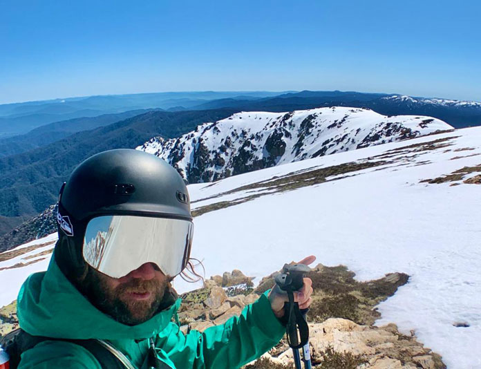 Back country ski touring in the Carve Reverb helmet