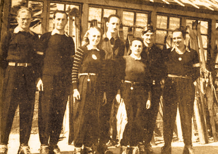 Argentinian Ski Team at the 1948 South AMerican Ski Championships held at Chacaltaya, Bolivia, the World's highest ski resort