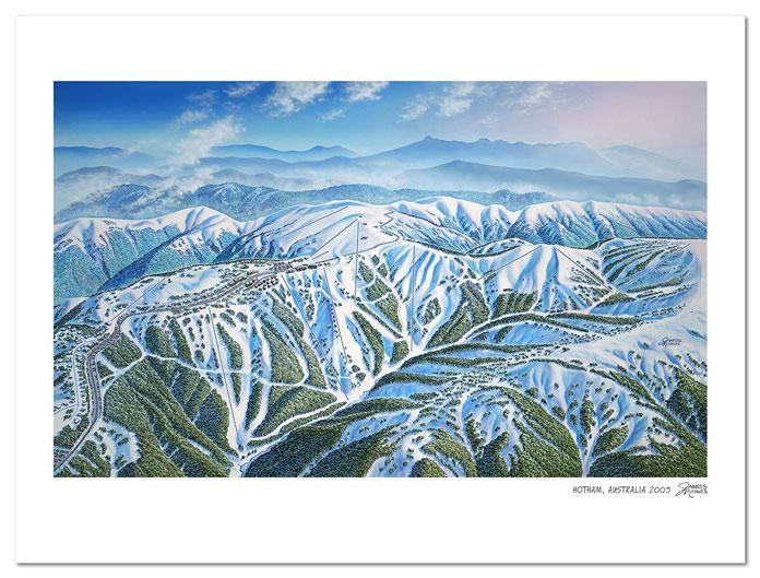 James Niehues Hotham trail map original painting