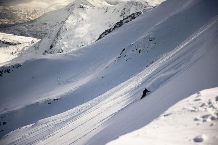 Powder day at Nevis Range, Scotland's biggest ski area