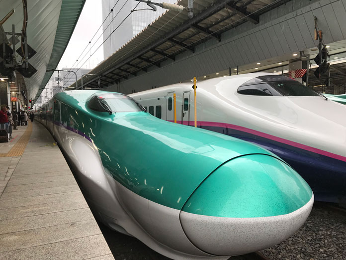 Hyabusa at Tokyo Station - the fastest shinkansen available with JR East Rail Pass