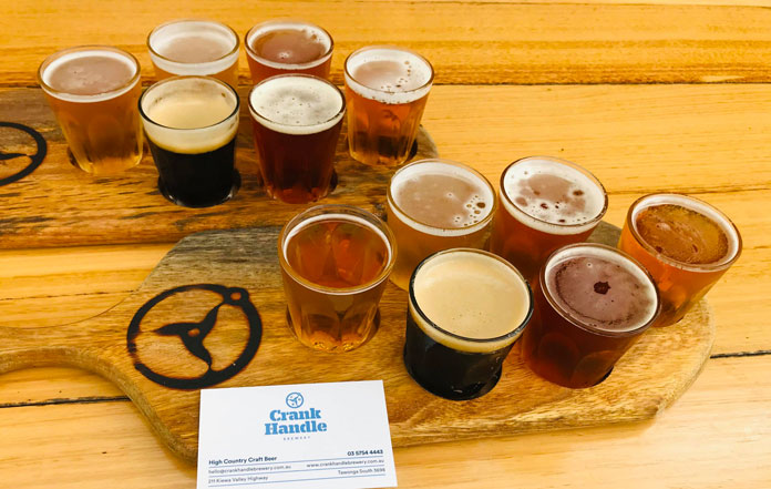 Crank Handle Brewery Mt Beauty selection of 6 craft beers