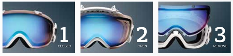 The easy-to-use snow goggle lens-swapping tech by Smith