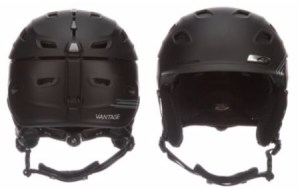 The front and back of the Smith Vantage snowboard and ski helmet