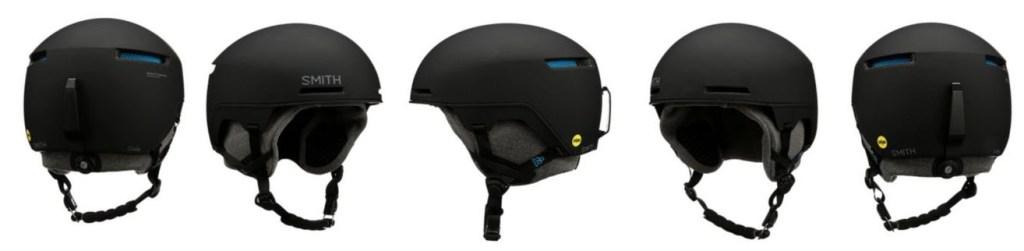 Views of the Smith Code snow helmet
