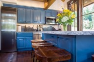 The gorgeous, highly efficient kitchen and dining area seats seven [Tamarack]