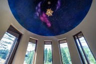 Relax underneath the stars in the turret and watch the skiers go by [Ponderosa]