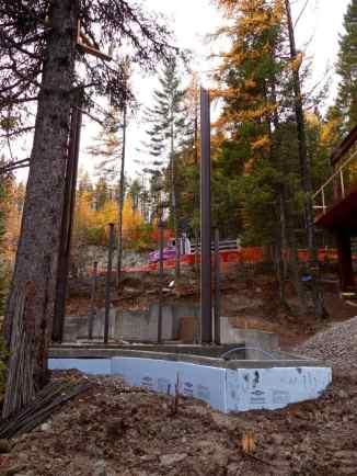 Cedar Chalet foundation and steel