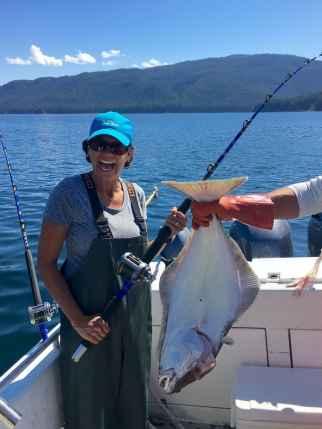 Meredith Coopman, our interior designer (photo taken on holiday fishing in Alaska)