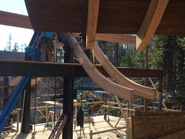 A couple of trusses up on Tamarack 11/5