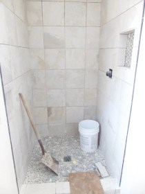 The shower, almost complete