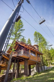 Ponderosa - Exterior from below with Tamarack and Chairlift