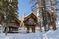 All three chalets from below in winter - Whitefish gets plenty of powder!