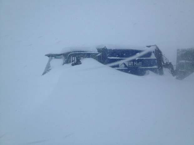 Mt. Hutt buried yesterday