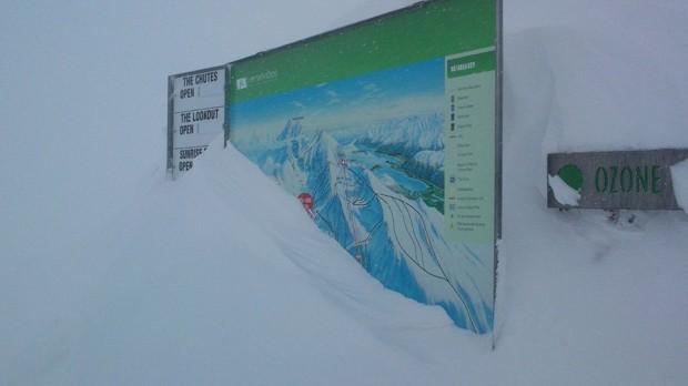 The Remarkables ski resort yesterday
