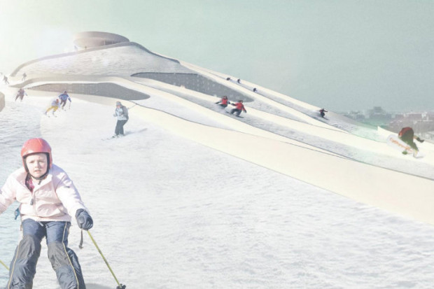Ski slope rendering.