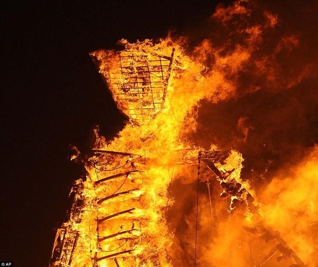 Burning the Man.  photo:  ap