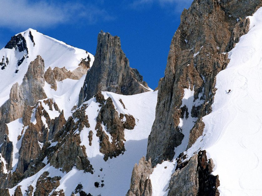 Las Leñas is famous for its backcountry skiing.