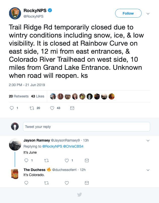 trail ridge road, colorado, closed, summer, winter