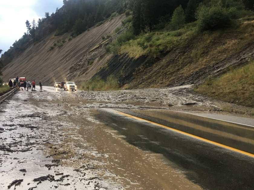 snake river, Jackson, wyoming, mudslide, rockslide