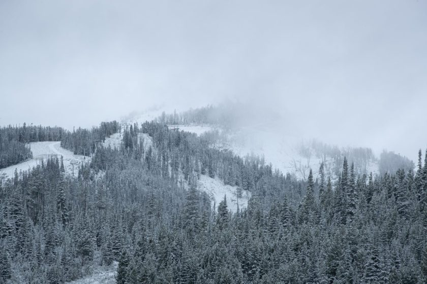 big sky, montana, snow