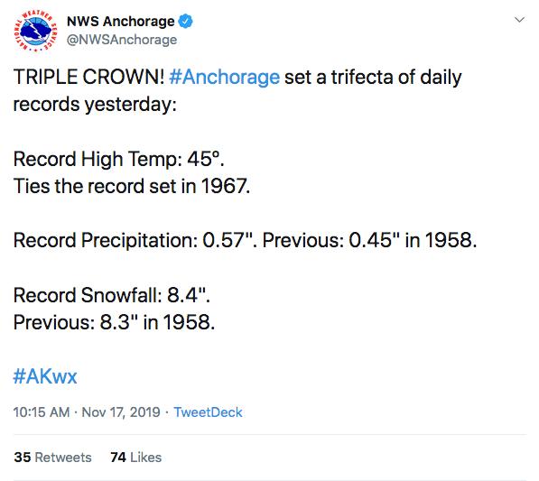 snow alaska anchorage records november weather usa