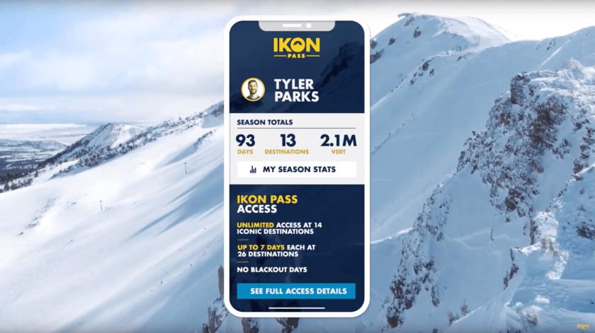 ikon pass, mobile app