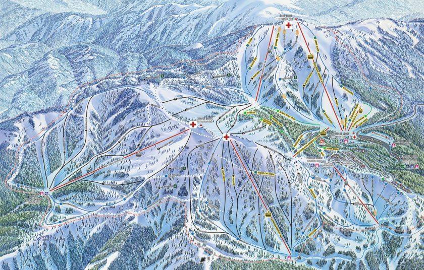 bogus ski trail map