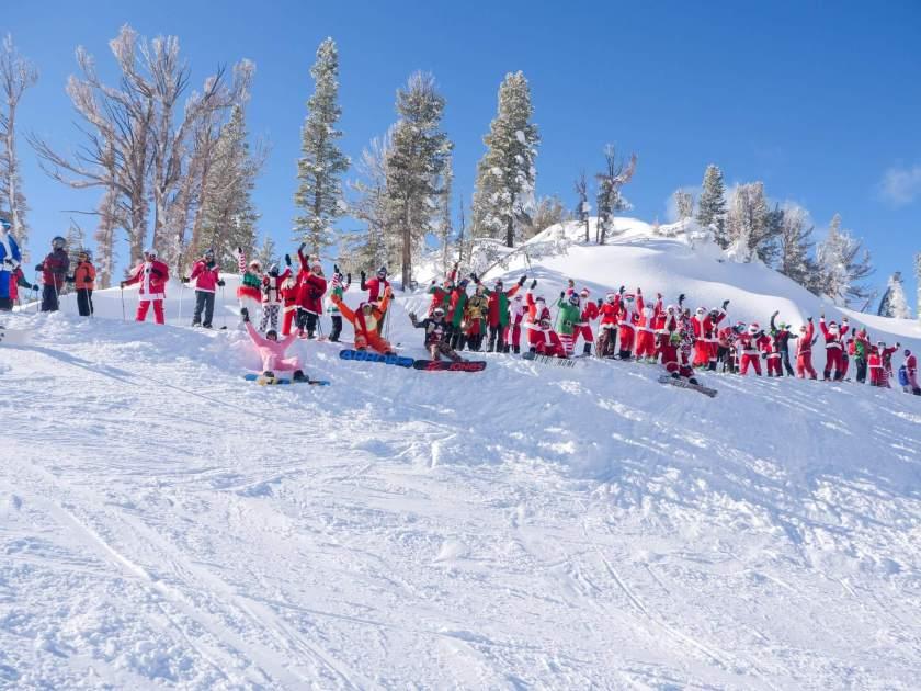 Santa ski down mt. Rose