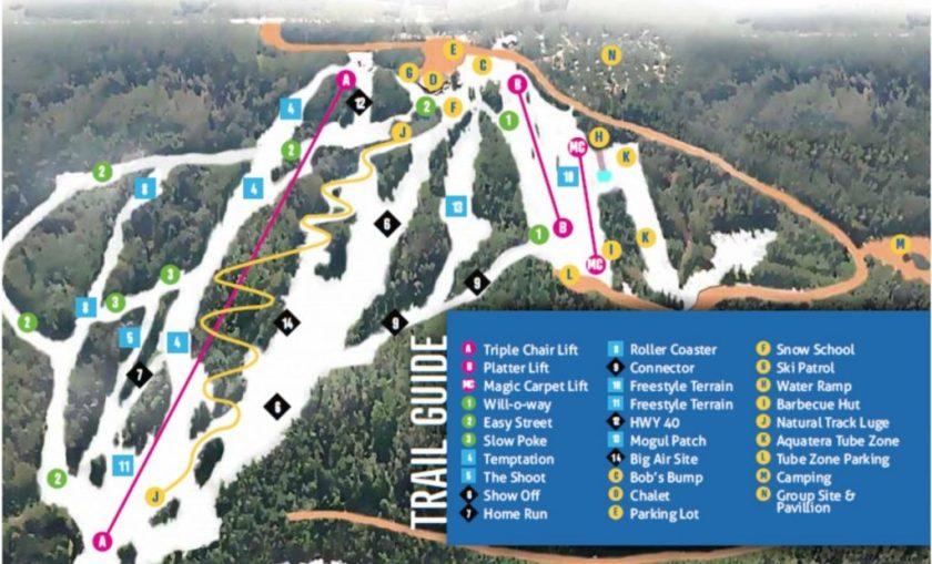 Nitehawk, Alberta, Canada, trail map