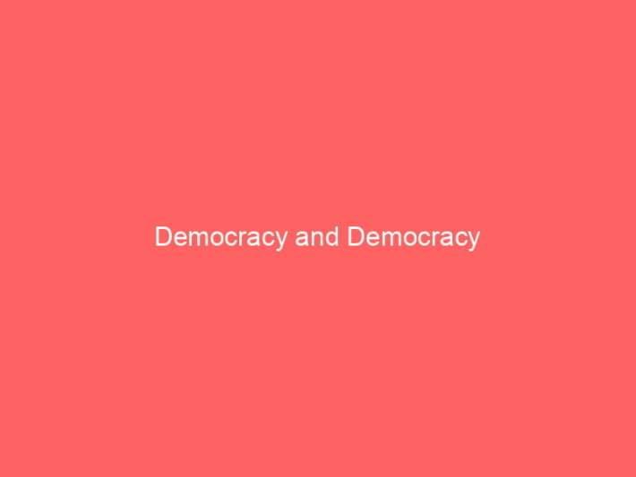 Democracy and Democracy 1