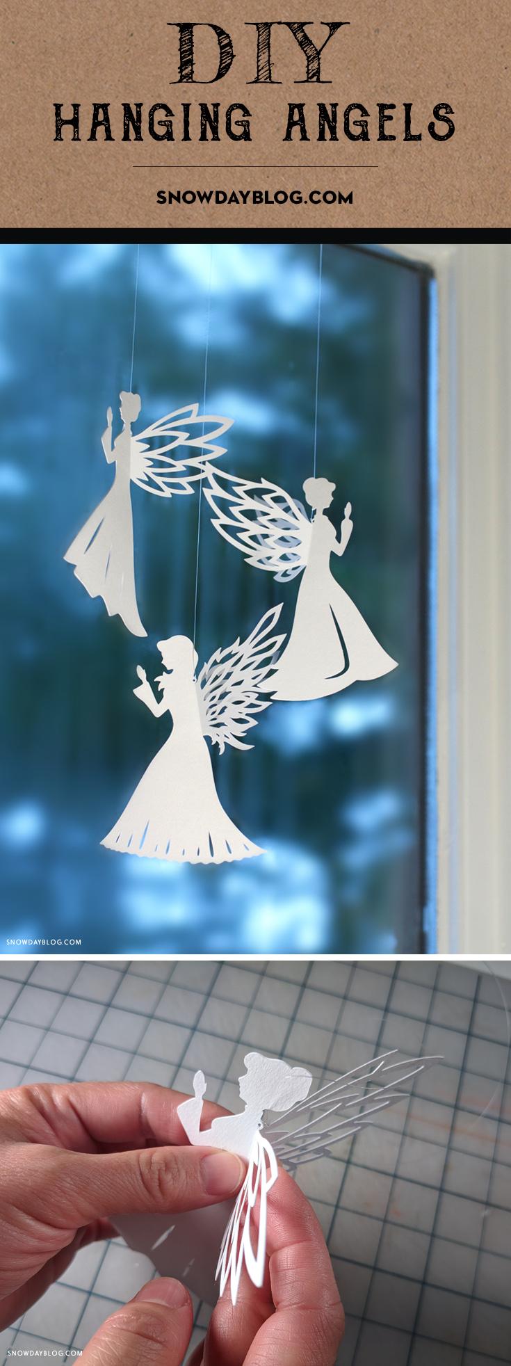 DIY Hanging Angels 1