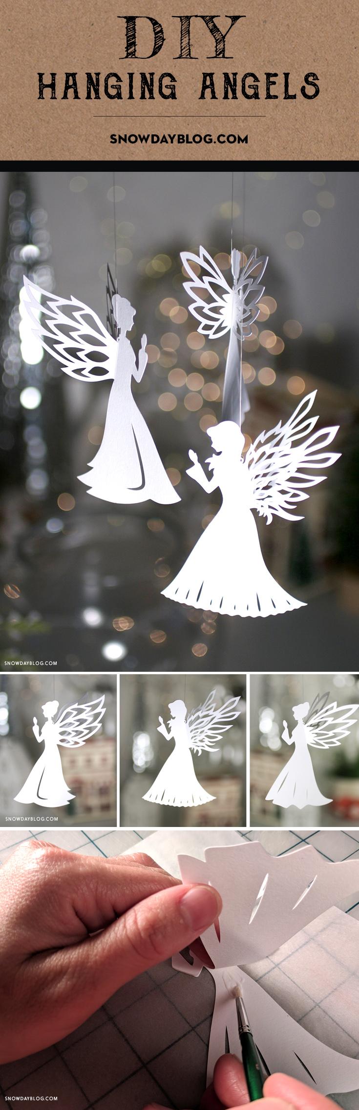 DIY Hanging Angels 2