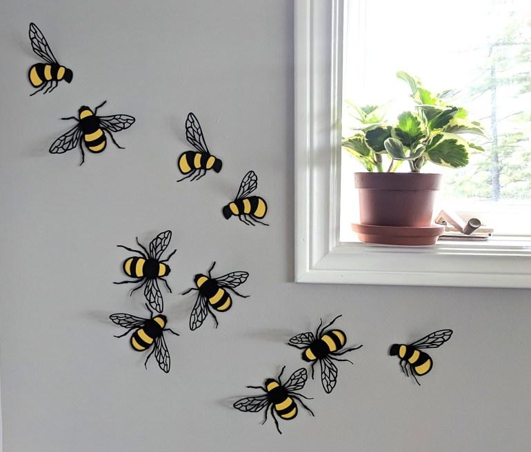 Bees Whole Set Window