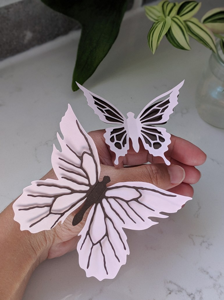 Butterfly Stickers on hand for size perspective