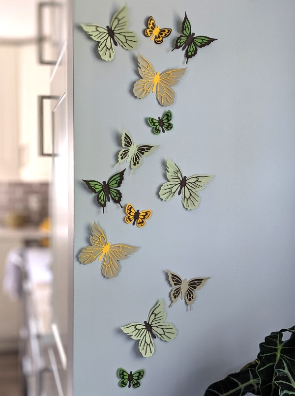 Butterfly Stickers in fall colors